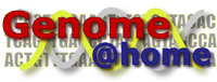 Genome @ home logo with link